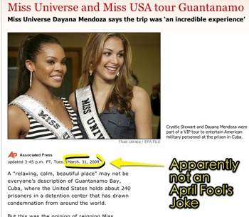 Miss Universe And Miss Usa Tour Guantanamo - Beauty Pageants