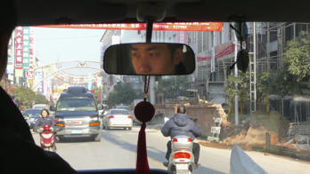 Driving in Songjiang, a suburb of Shanghai.
